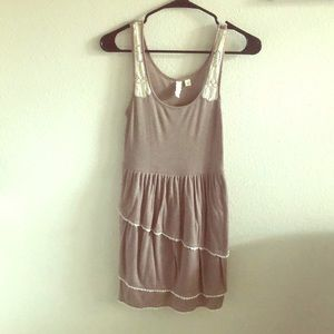 Anthropologie Brown Summer Dress Lace